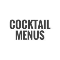 Cocktail Menus Fotor