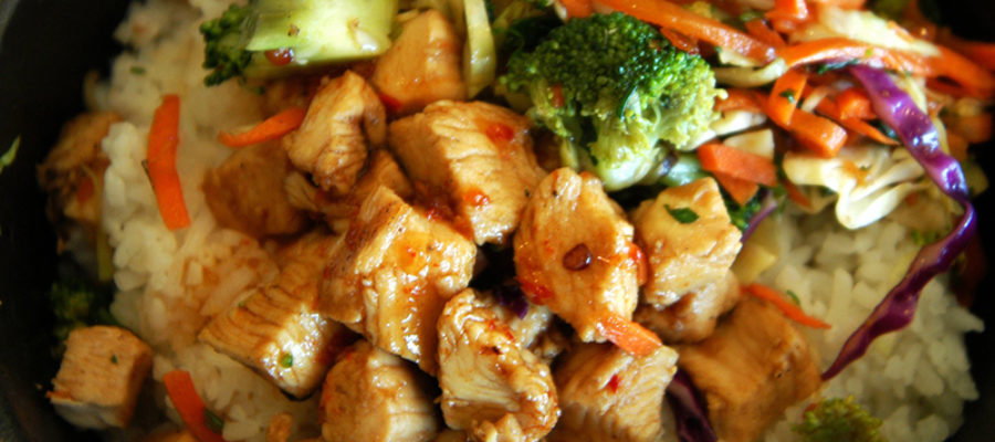 Orange Chicken Bowl From Bbbop