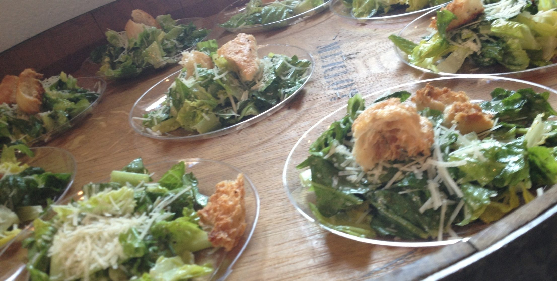 Caesar salad from Fireside Pies at Times Ten Cellars