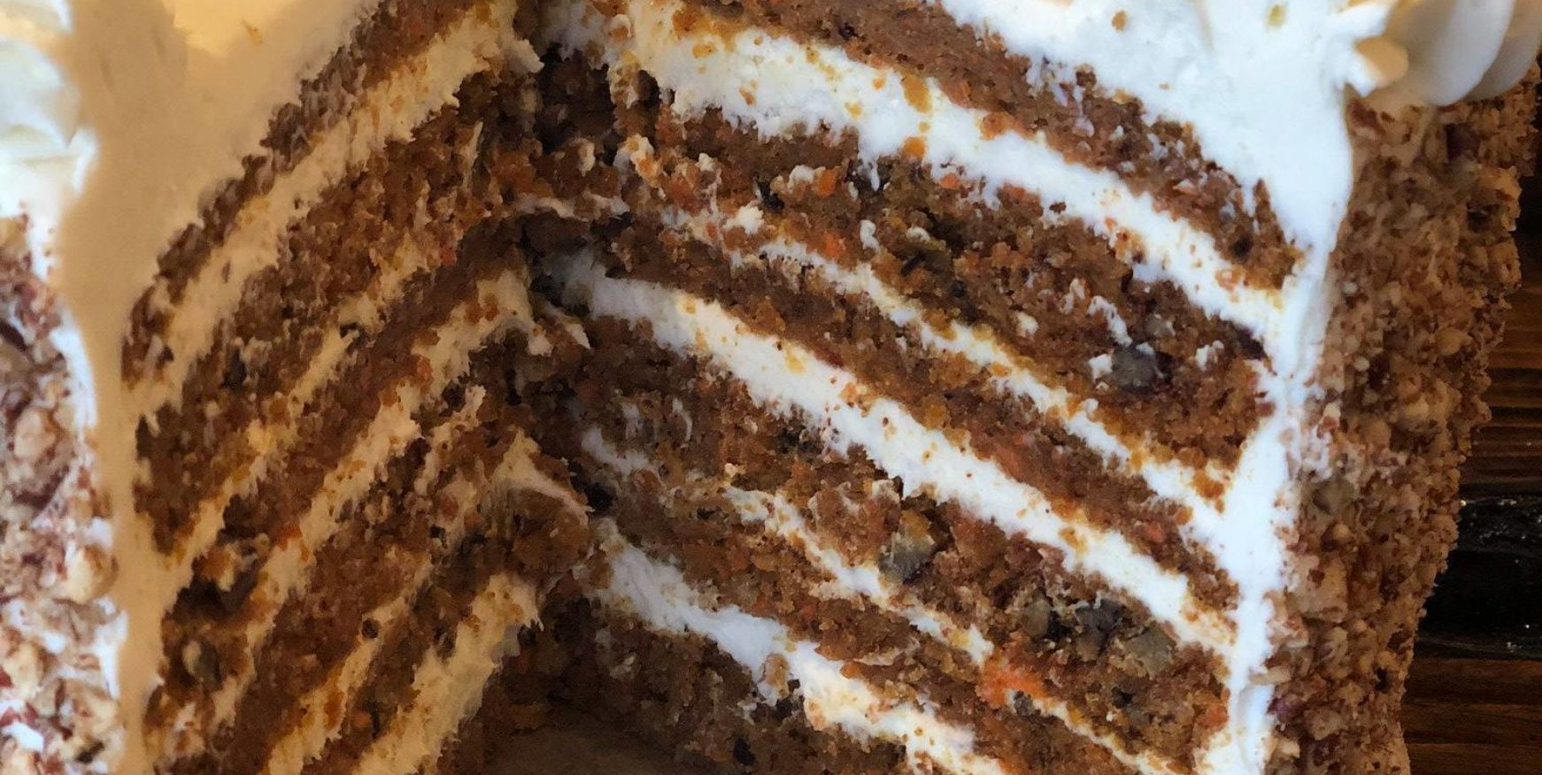 carrot cake from corporate catering partner crickles & co