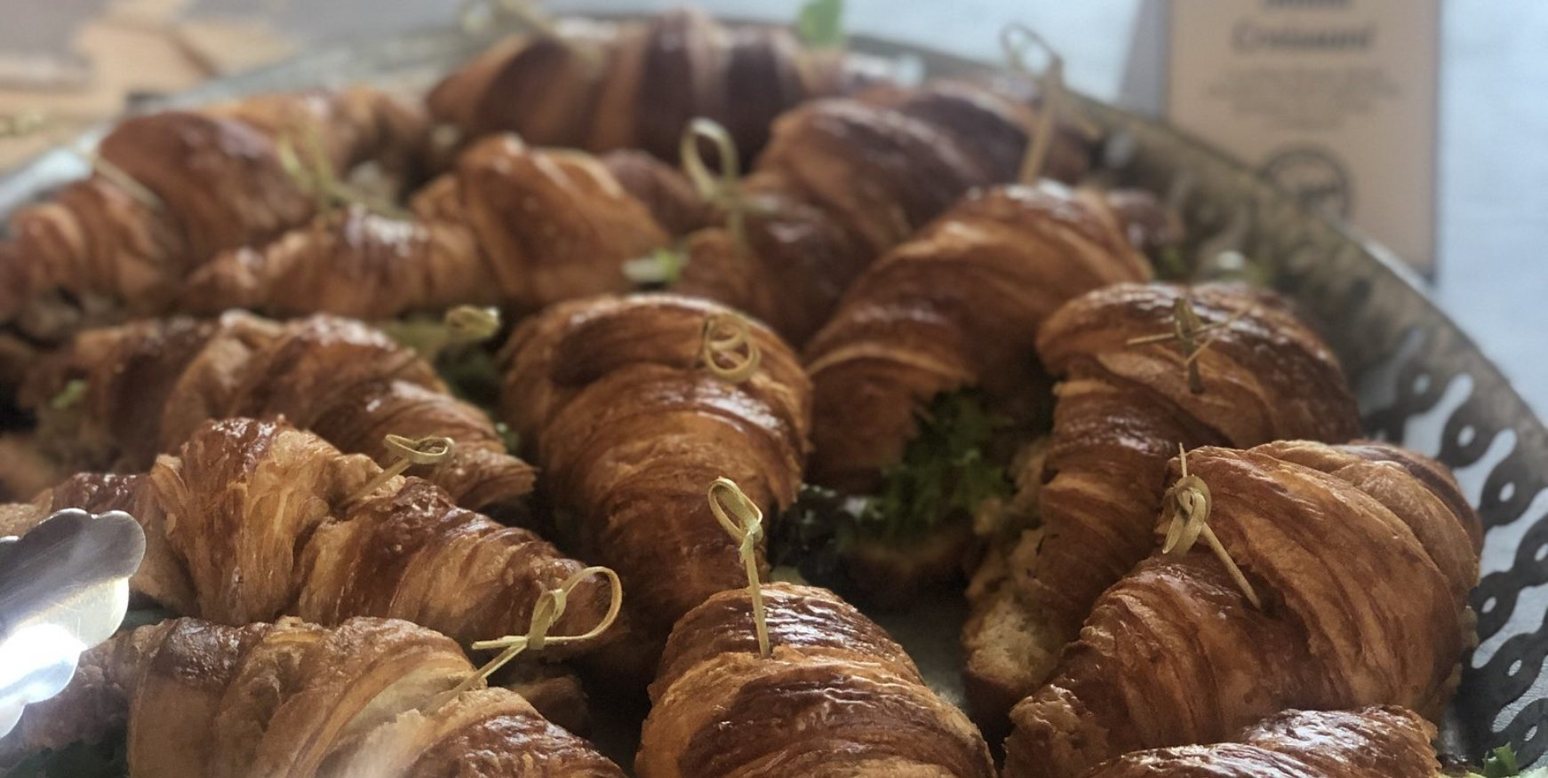 chicken salad croissants from corporate office catering with Cohost