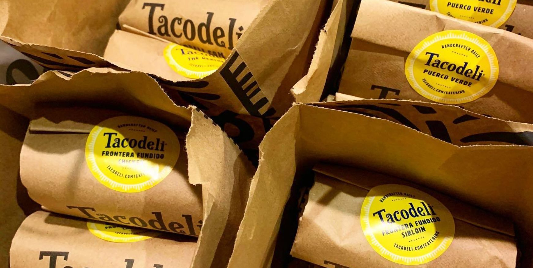 menu items from catering partner Tacodeli