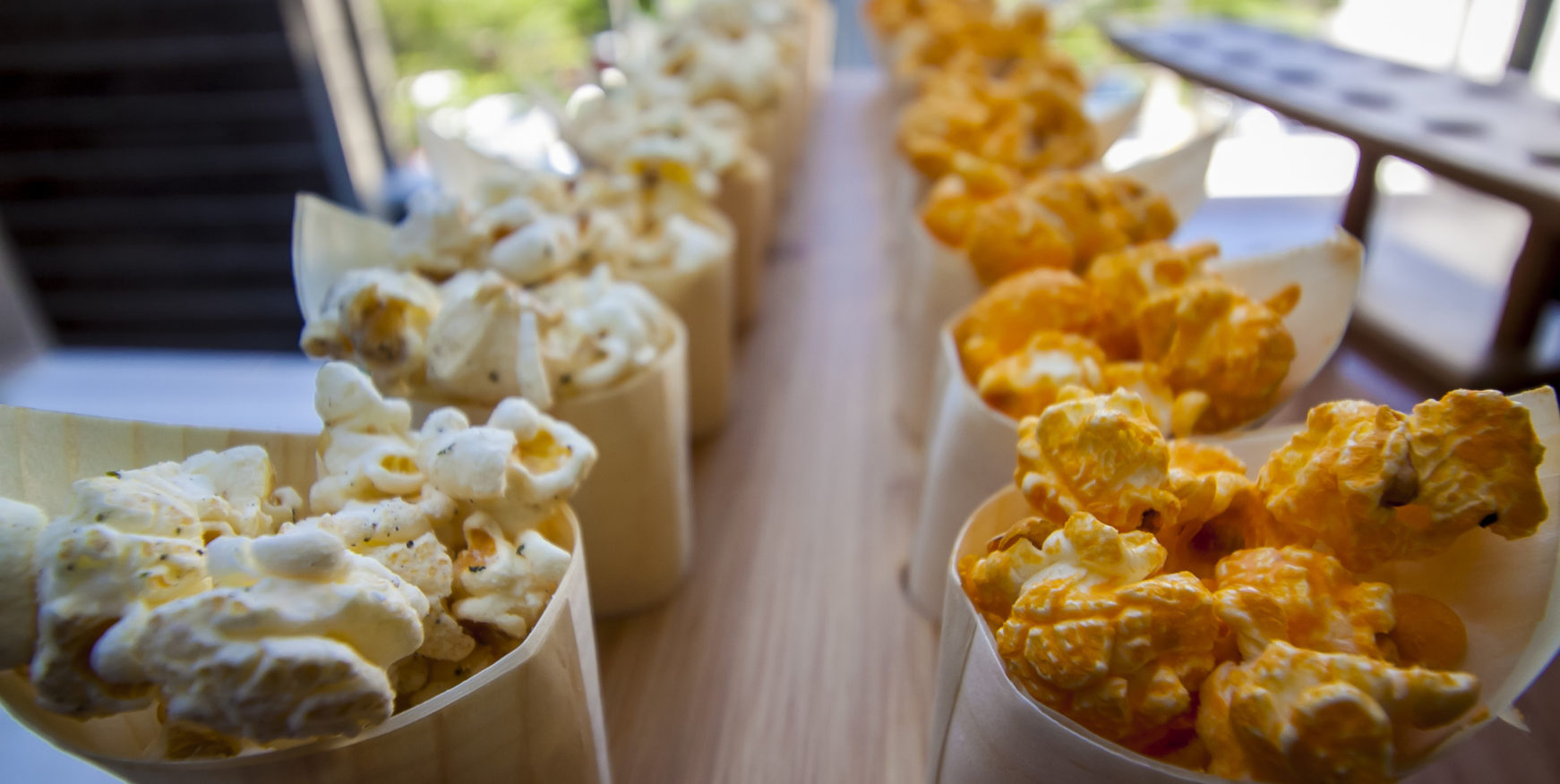 popcorn from our catering partner brown bag popcorn co