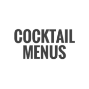 Cocktail Menus Fotor